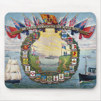 Historical British Colonies Crests Nautical Mouse Pad
