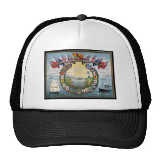 Historical British Colonies Crests Nautical Trucker Hat