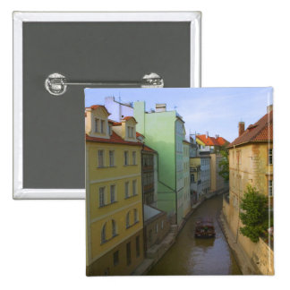 Historical buildings with canal, Prague, Czech Pinback Button
