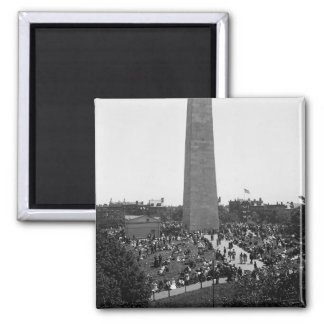 Historical Bunker Hill Monument Photograph 2 Inch Square Magnet