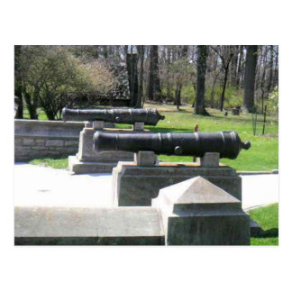 Historical Cannons In Park Postcard