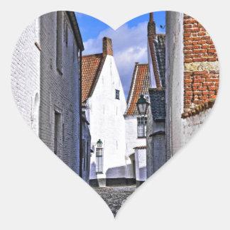 historical center of Courtrai, Belgium Heart Sticker