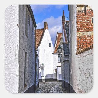 historical center of Courtrai, Belgium Square Sticker
