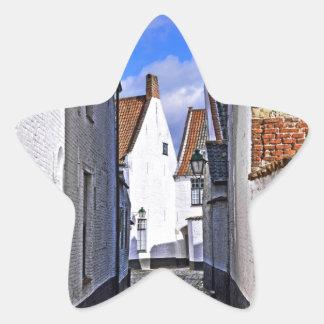 historical center of Courtrai, Belgium Star Sticker