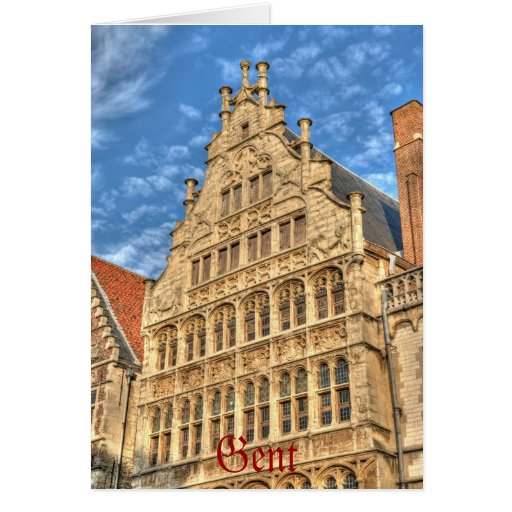 Historical center of Gent Greeting Card