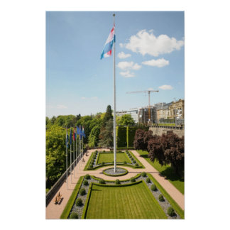 historical center of Luxembourg city Poster