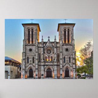 Historical Church in San Antonio Tx Print