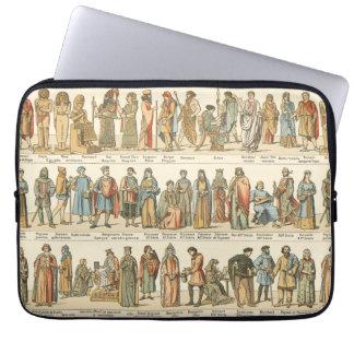 Historical Civil Dress Laptop Computer Sleeves