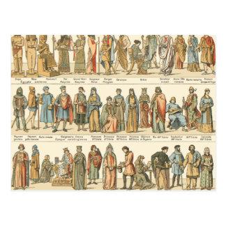 Historical Civil Dress Postcard