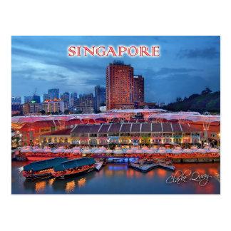 Historical Clarke Quay in Singapore Postcard