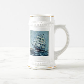 Historical Clipper Ship Western Shore Beer Stein