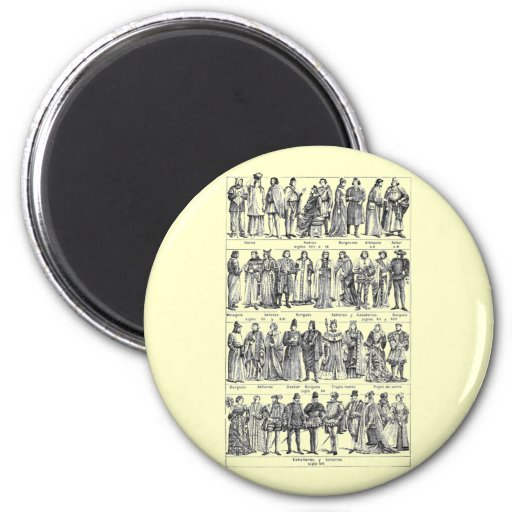 Historical Costumes Refrigerator Magnet
