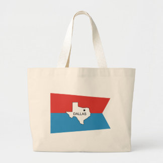 Historical Dallas Flag Canvas Bags