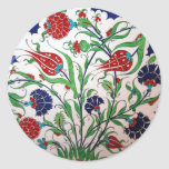 Historical Dianthus and Tulip Pattern - Tile Art Stickers
