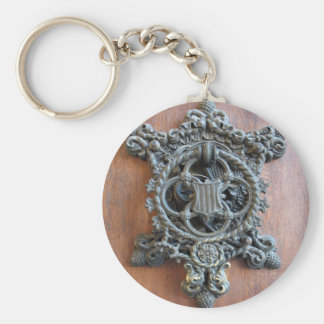 Historical Door Knocker On The Gate To Hluboka Cas Key Chains