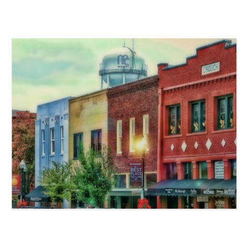 historical downtown McKinney Texas Post Cards