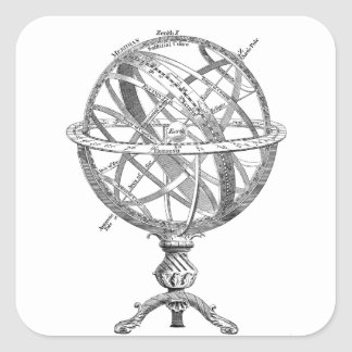 Historical drawing of a scientific Earth sphere