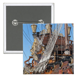 historical galleon pinback buttons