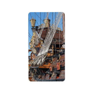 historical galleon personalized address label