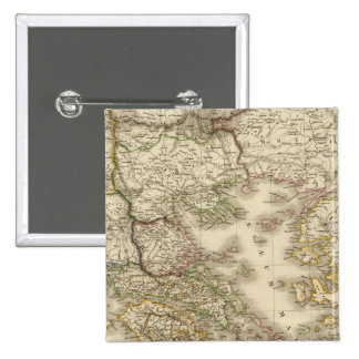 Historical Greece, Paris atlas map Pinback Buttons