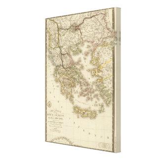 Historical Greece, Paris atlas map Canvas Print