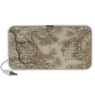 Historical Greece, Paris atlas map iPhone Speakers