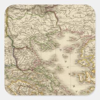 Historical Greece, Paris atlas map Square Sticker