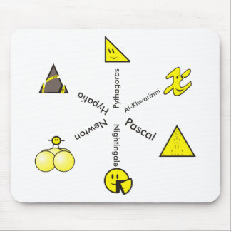 historical happy faces mouse pad