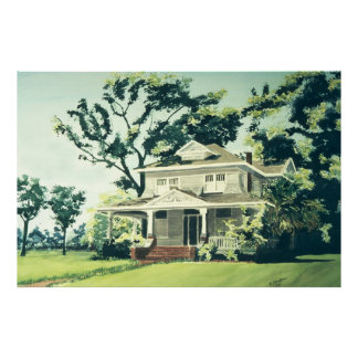 Historical Home on Heights Boulevard Poster
