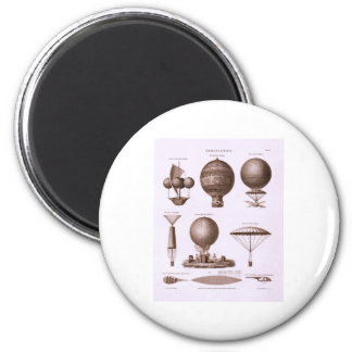 Historical Hot Air Balloon Designs 2 Inch Round Magnet