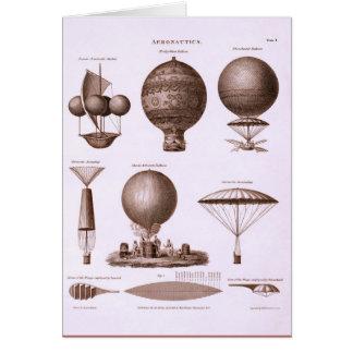 Historical Hot Air Balloon Designs Card