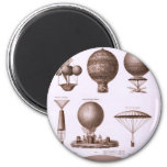 Historical Hot Air Balloon Designs Magnet