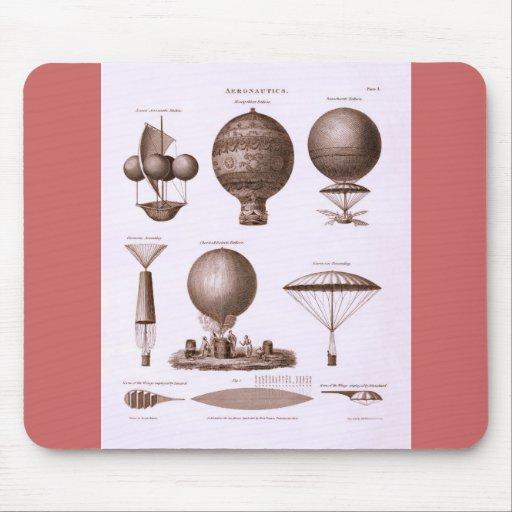 Historical Hot Air Balloon Designs Mouse Mat