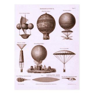 Historical Hot Air Balloon Designs Postcard