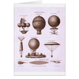 Historical Hot Air Balloon Designs Vintage Image Card