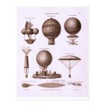 Historical Hot Air Balloon Designs Vintage Image Postcards