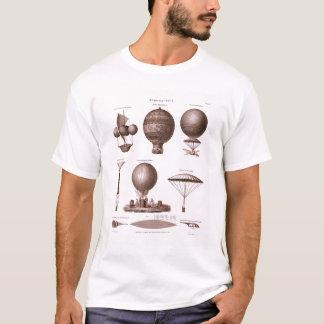 Historical Hot Air Balloon Designs Vintage Image T-Shirt