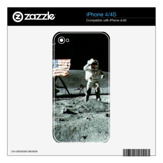 historical man on the moon decal for the iPhone 4S