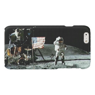 Historical man on the moon glossy iPhone 6 case