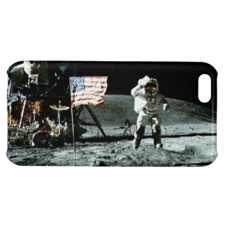 Historical man on the moon iPhone 5C cases