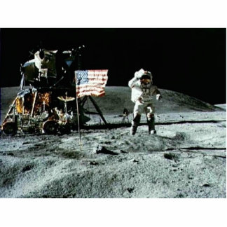 Historical man on the moon statuette