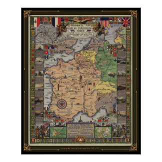 Historical Map - American Expeditionary Force Poster