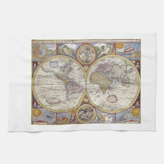 Historical Map Kitchen Towels