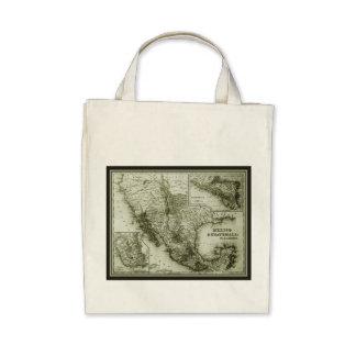 Historical Map Mexico and Guatemala Tote Bag