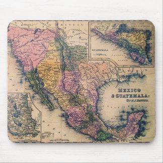 Historical Map Mexico and Guatemala mousepad