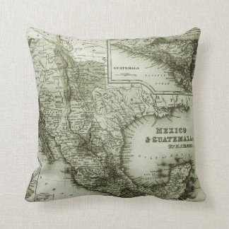 Historical Map Mexico and Guatemala Pillow