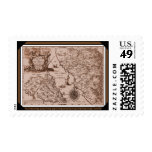 Historical Map Mexico California 1702 postage