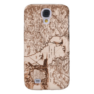 Historical Map Mexico California 1702  Samsung Galaxy S4 Case