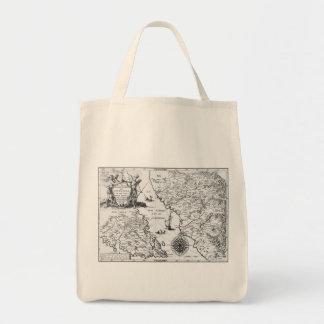 Historical Map Mexico California 1702 tote bag