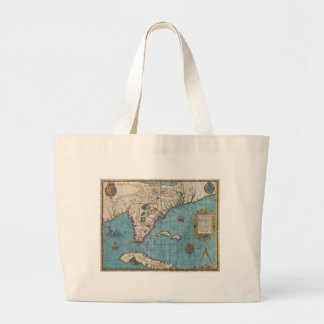 Historical Map of Florida (1591) Canvas Bags